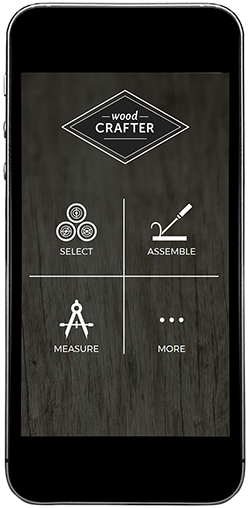 Wood Crafter home screen